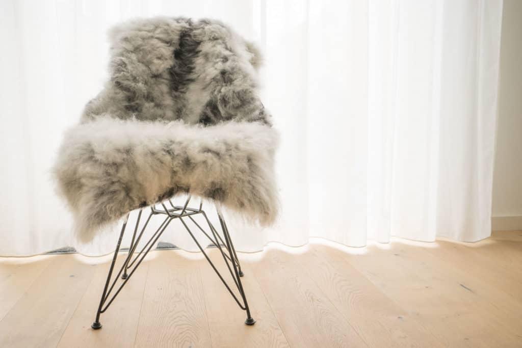 Sheepy Interieur vachtje op stoel