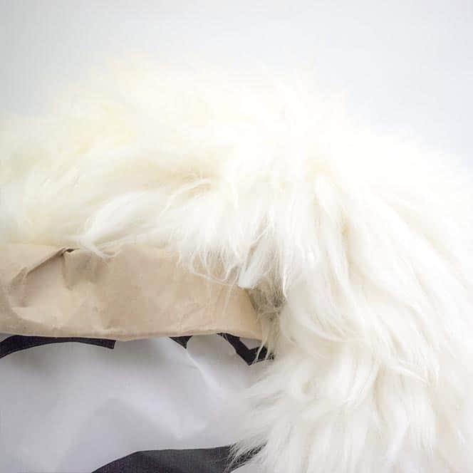 IJslandse schapenvacht van Sheepy closeup
