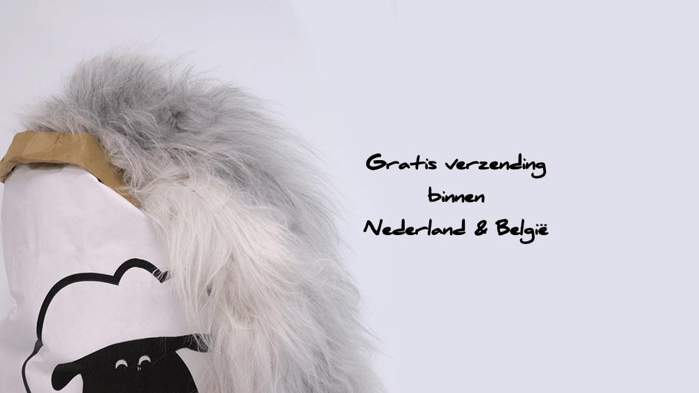 Schapenvacht gratis verzending binnen Nederland en België