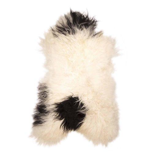 IJslandse Schapenvacht Wit met Zwart H15