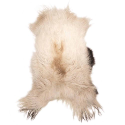 IJslandse Schapenvacht Wit met Zwart en Bruin H12