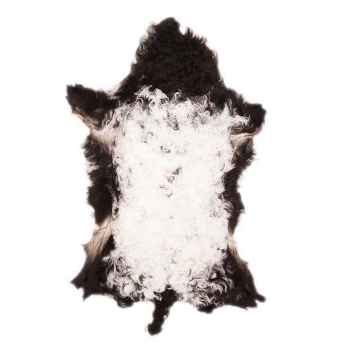 Tibetaanse Schapenvacht Wit Zwart | F76