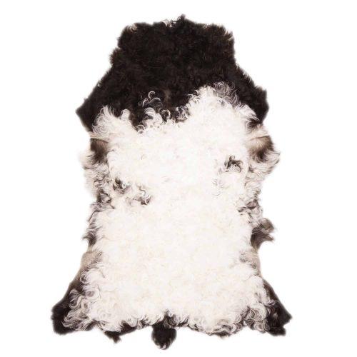 Tibetaanse Schapenvacht Wit Zwart | F84