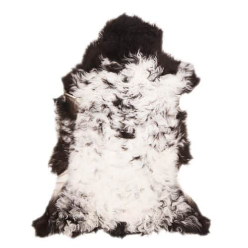 Tibetaanse Schapenvacht Wit Zwart | F89