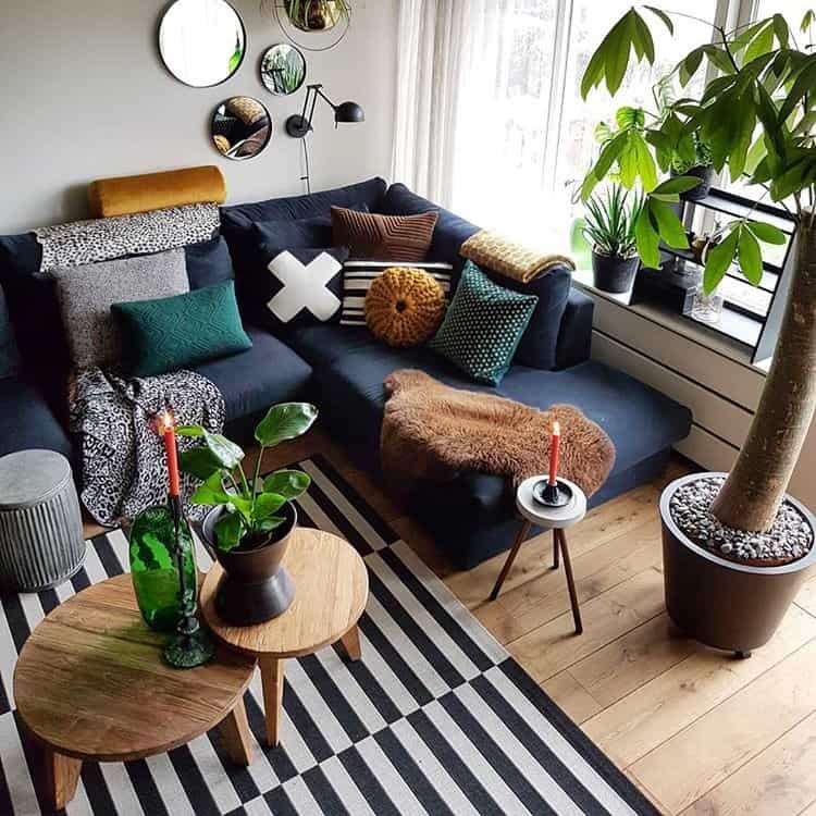 Schapenvacht bruin woonkamer