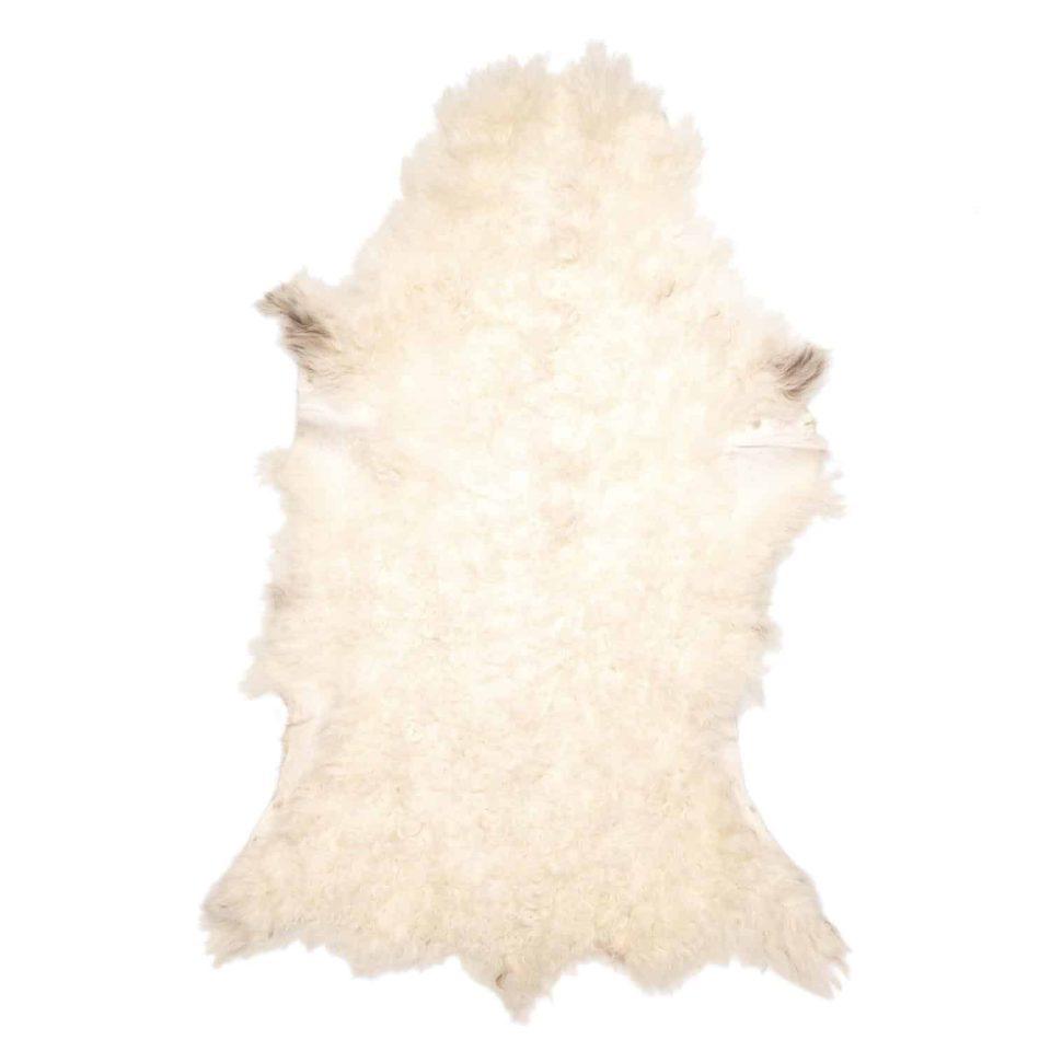 Tibetaanse schapenvacht bruin wit J12