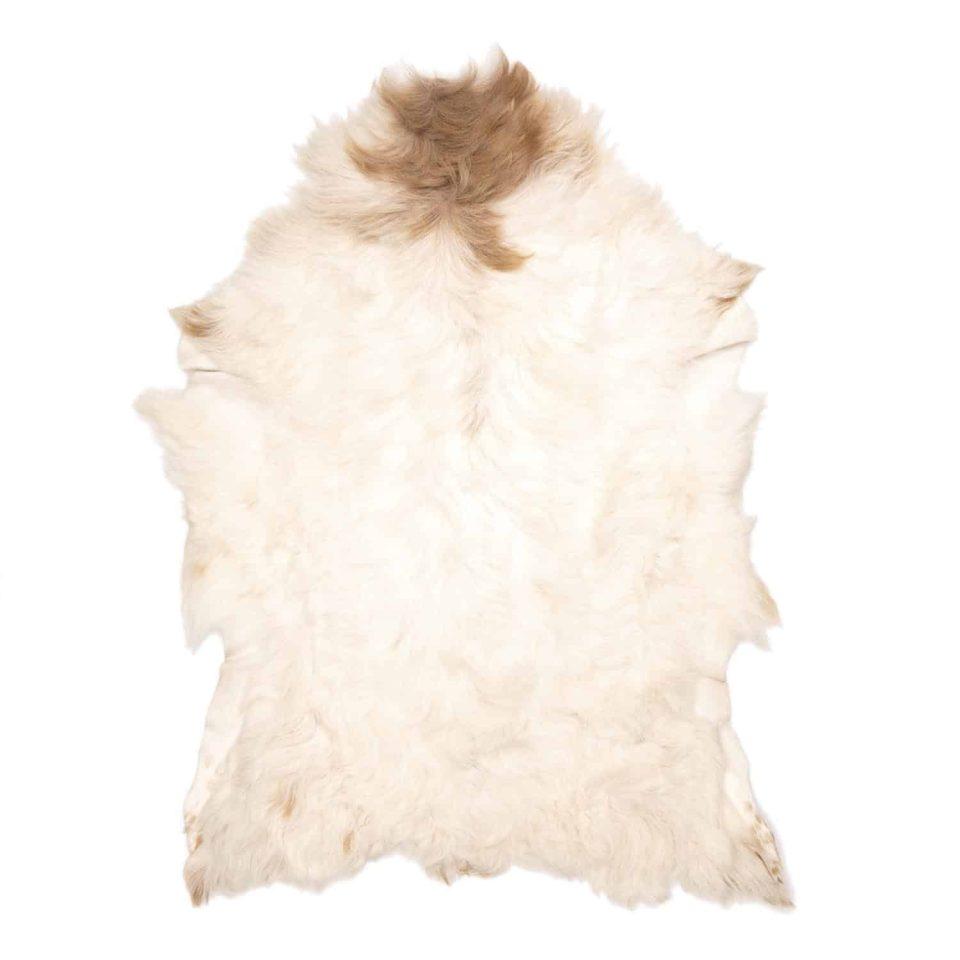 Tibetaanse scSchapenvacht Tibetaans Wit Beige | J20apenvacht bruin wit J20