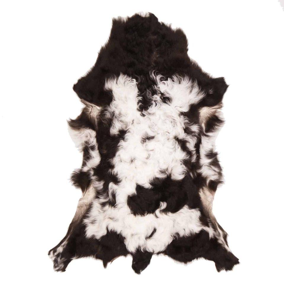 Tibetaanse schapenvacht zwart wit J10