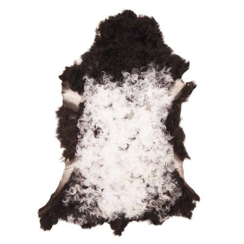 Tibetaanse Schapenvacht Wit Zwart | J17