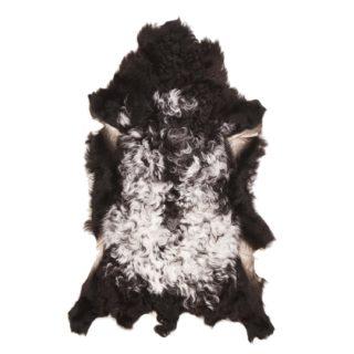 Tibetaanse Schapenvacht Wit Zwart | J21