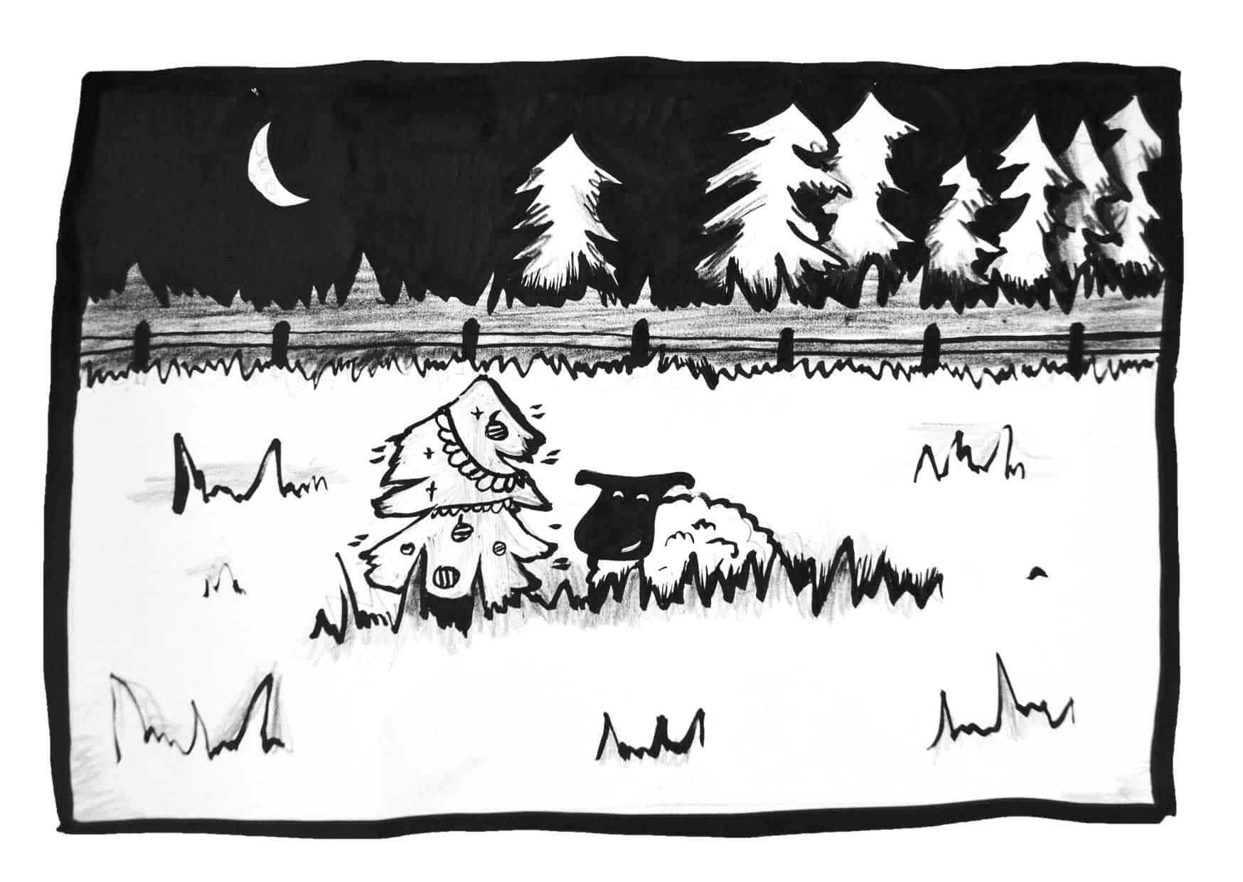 kerstkaart-sheepy-schaap-in-weide