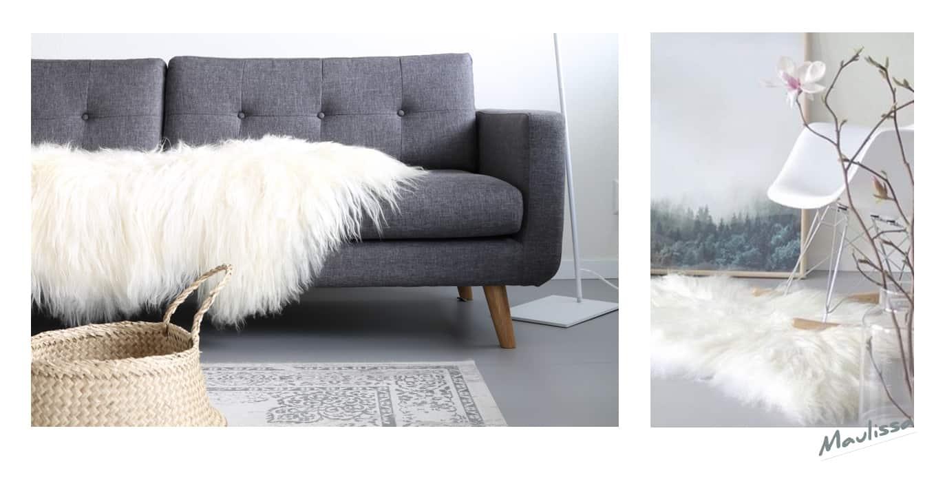 IJslandse schapenvacht wit - Sheepy.cc