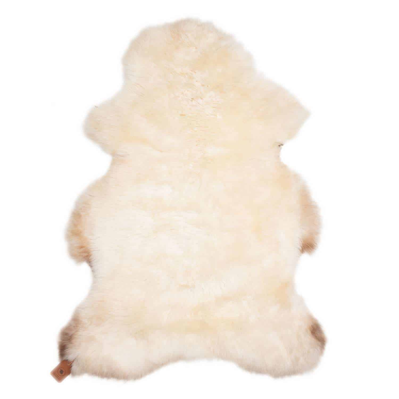 Schapenvacht Wit met Bruin N18