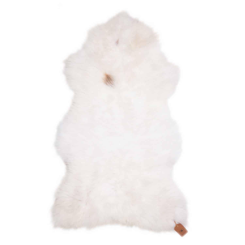 Schapenvacht Wit met Bruin N19