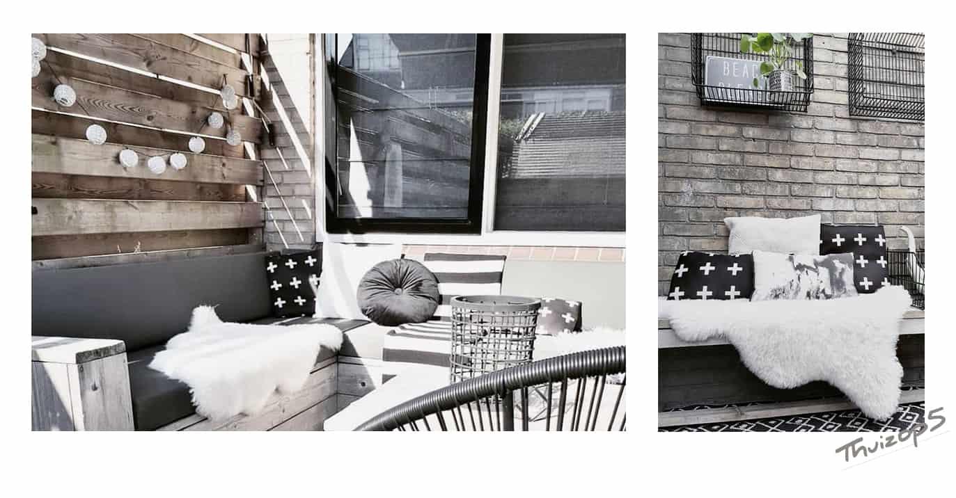 Schapenvacht op je veranda