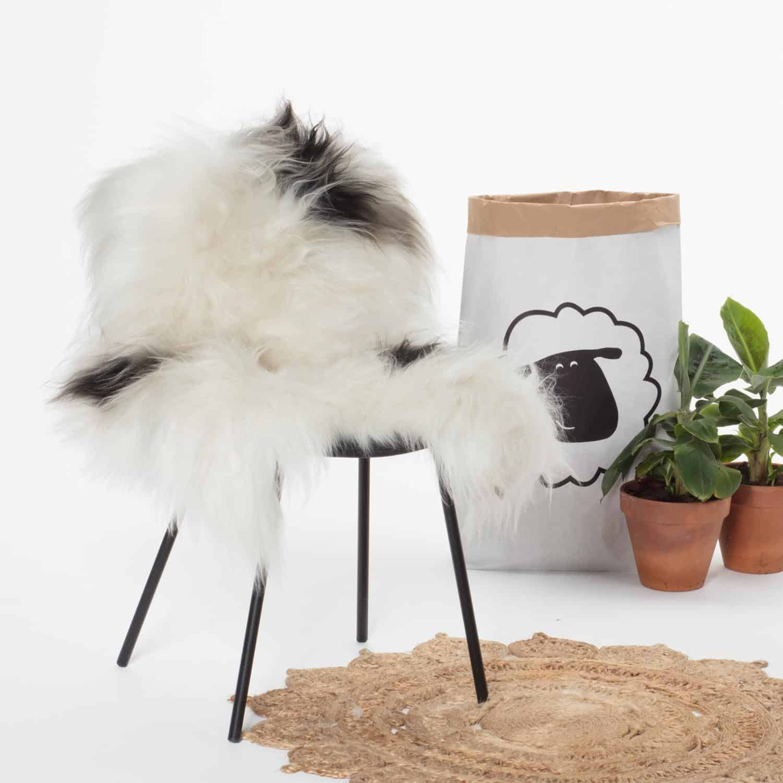 IJslandse Scahepnvacht Wit met zwart P51.stoel