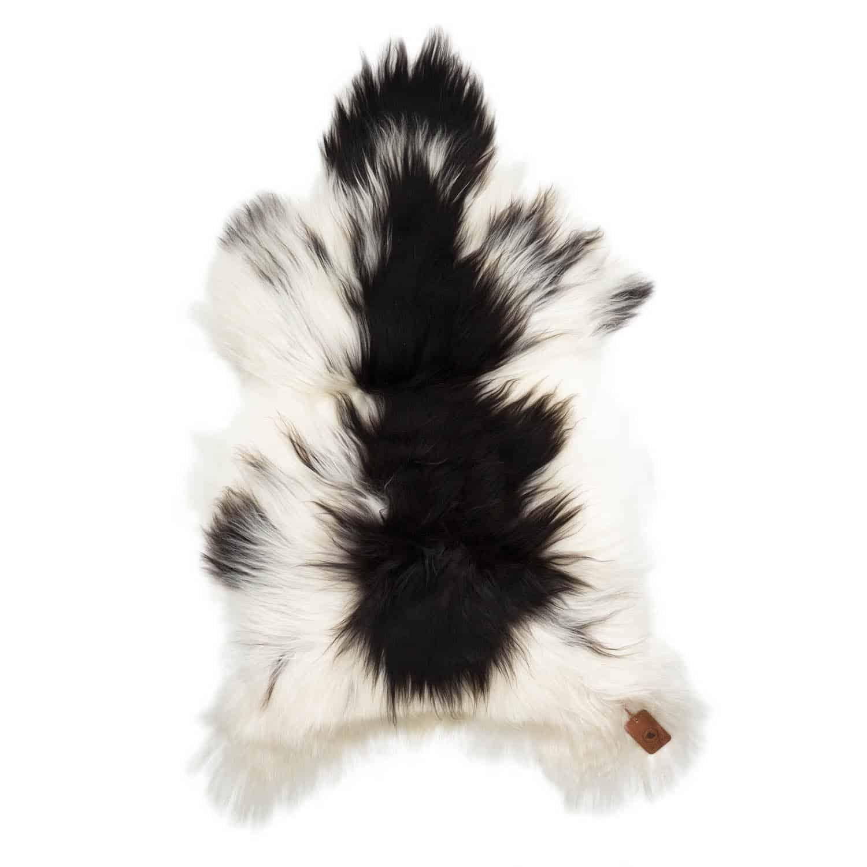 IJslandse Schapenvacht Wit met Zwart P53