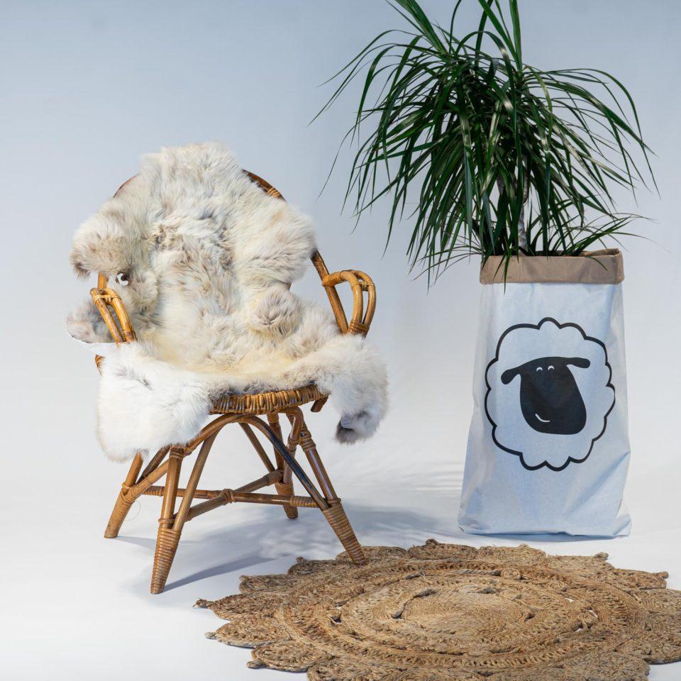 A09 Schapenvacht gemeleerd stoel Sheepycc