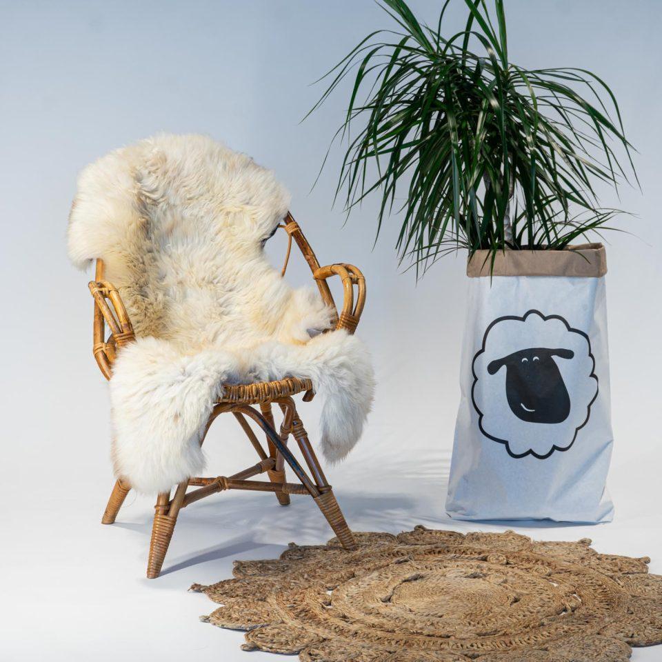 A10 Schapenvacht gemeleerd stoel Sheepycc