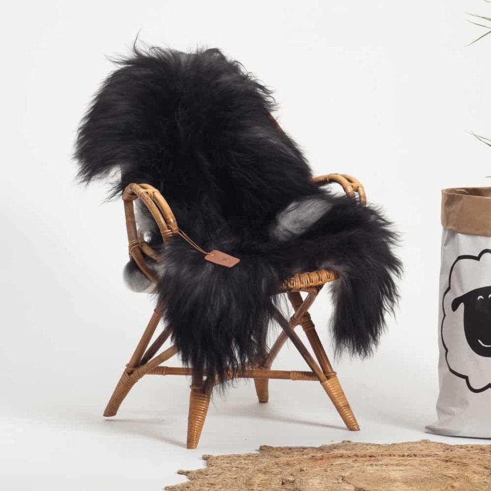 Schapenvacht Grijs IJslands R58 maat XL.stoel