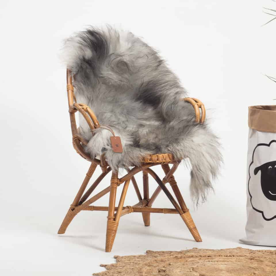 Schapenvacht Grijs IJslands R61 maat XL.stoel