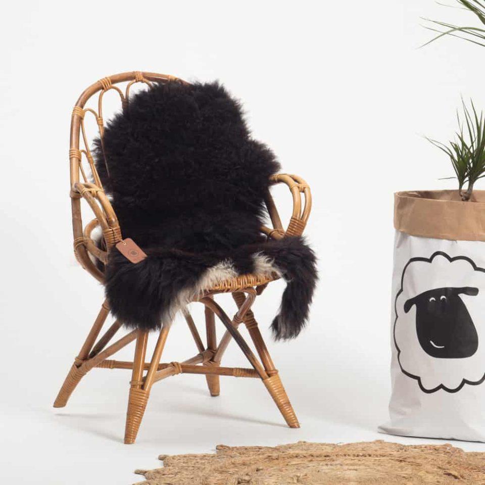 Schapenvacht gemeleerd stoel 32