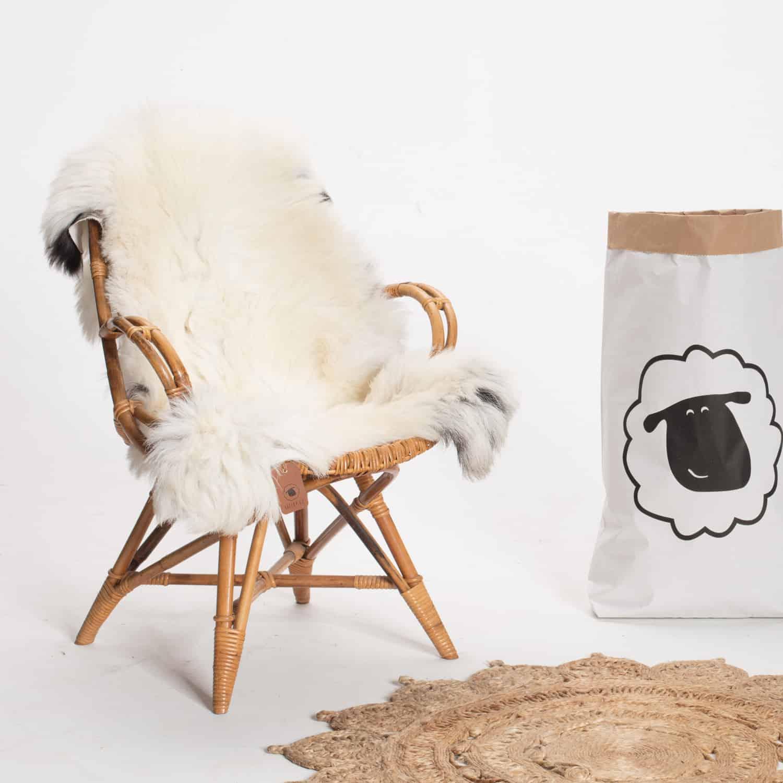 Schapenvacht beige stoel 26