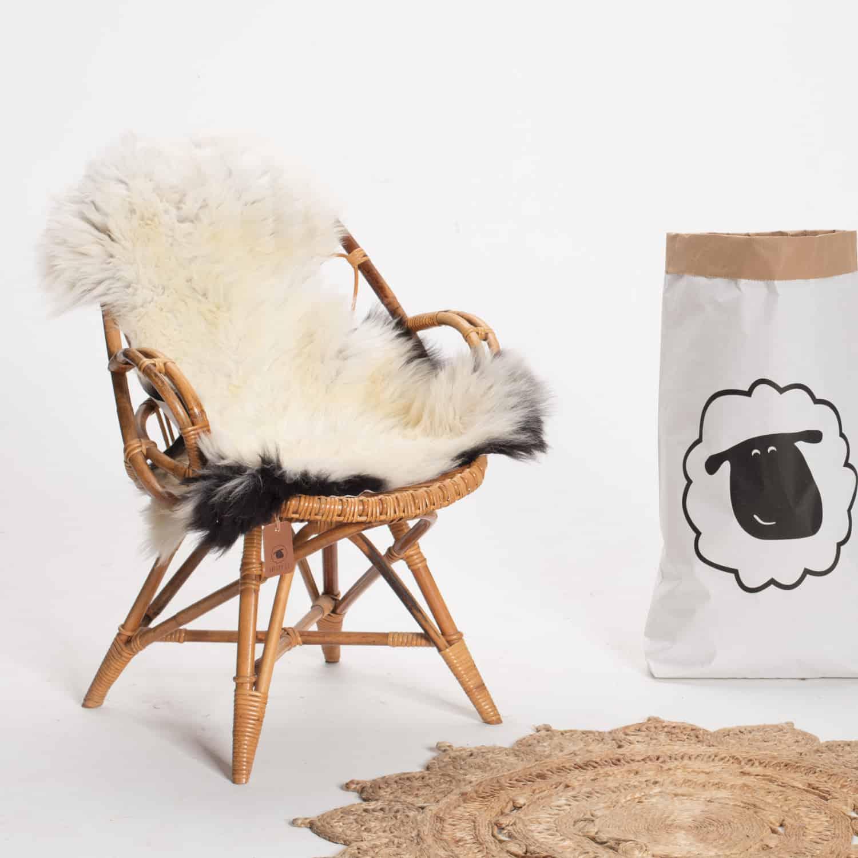 Schapenvacht beige stoel 28