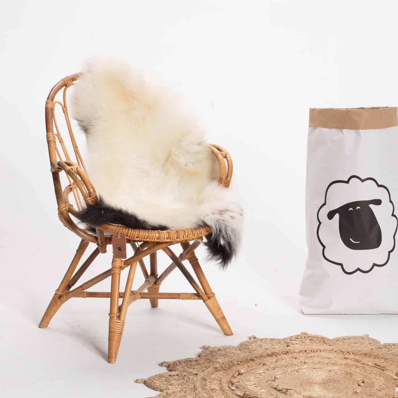 Schapenvacht beige stoel 31