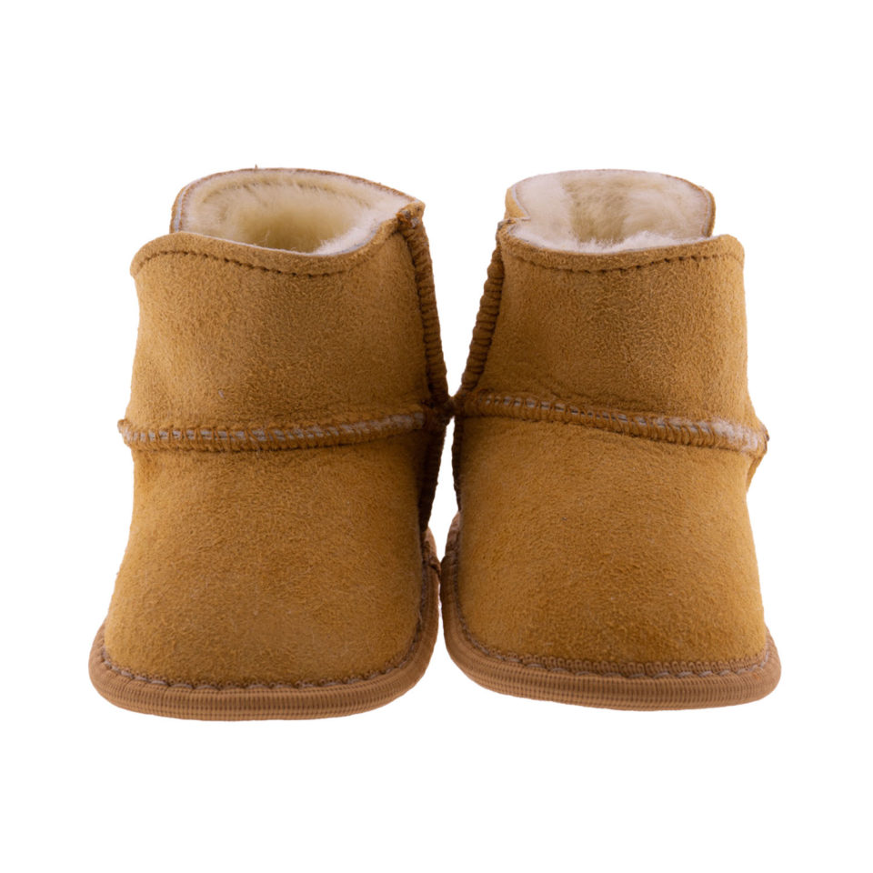 Babyslofjes wol beige Jip 1 Sheepycc