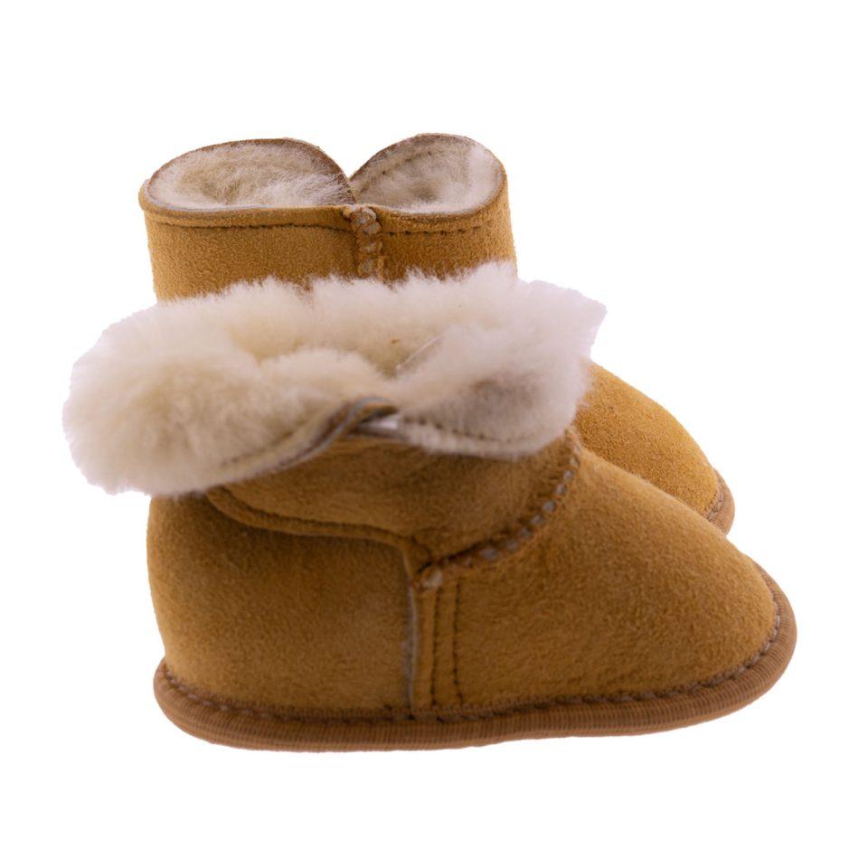 Babyslofjes wol beige Jip 5 Sheepycc