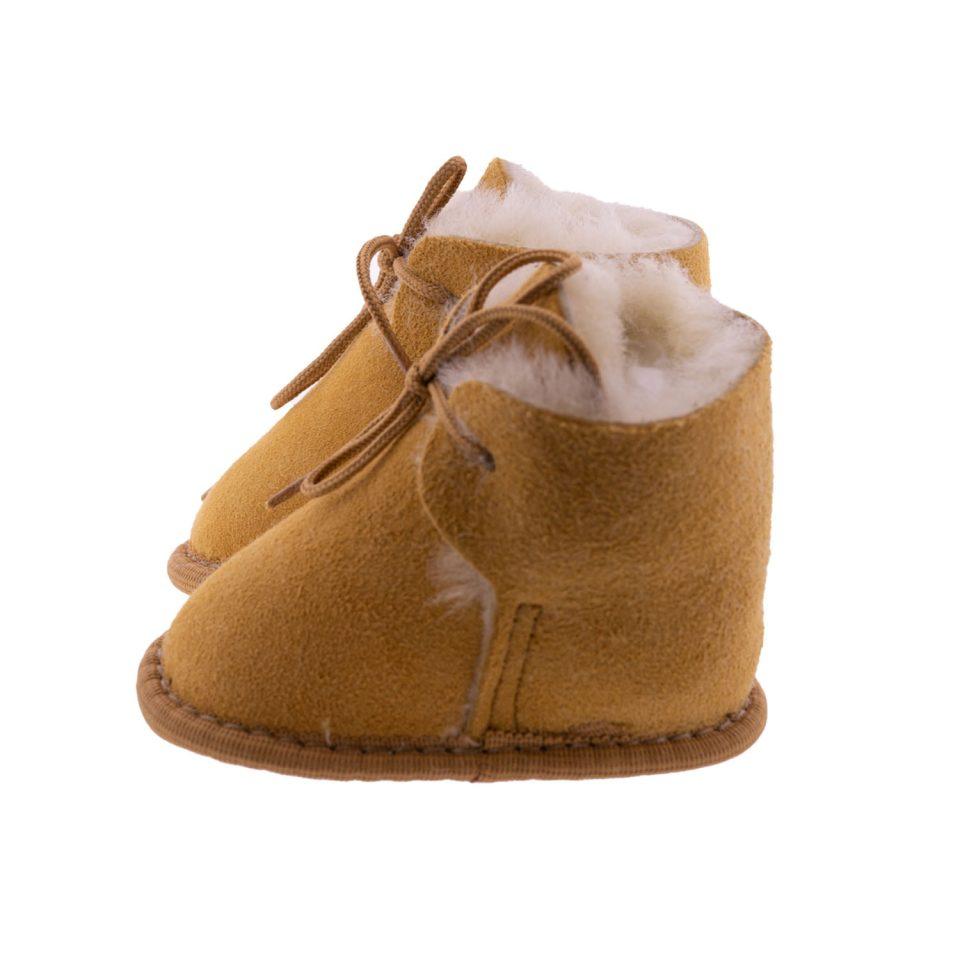 Babyslofjes wol beige Joep 2 Sheepycc