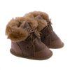 Babyslofjes wol taupe Moep 2 Sheepycc