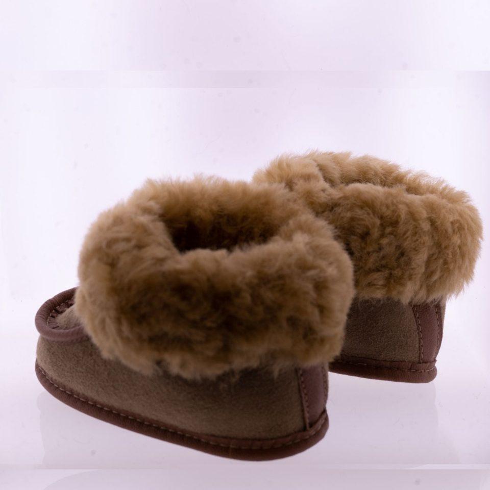 Babyslofjes wol taupe Pip Sheepycc 3