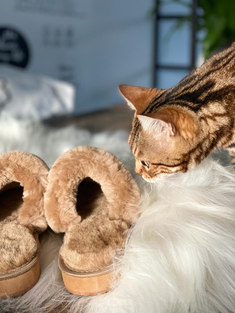 Schapenwollen Pantoffels wollen sloffen schapenwol – Sheepycc detail