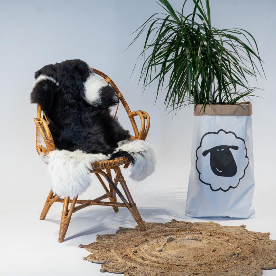 A04 Schapenvacht gemeleerd stoel Sheepycc