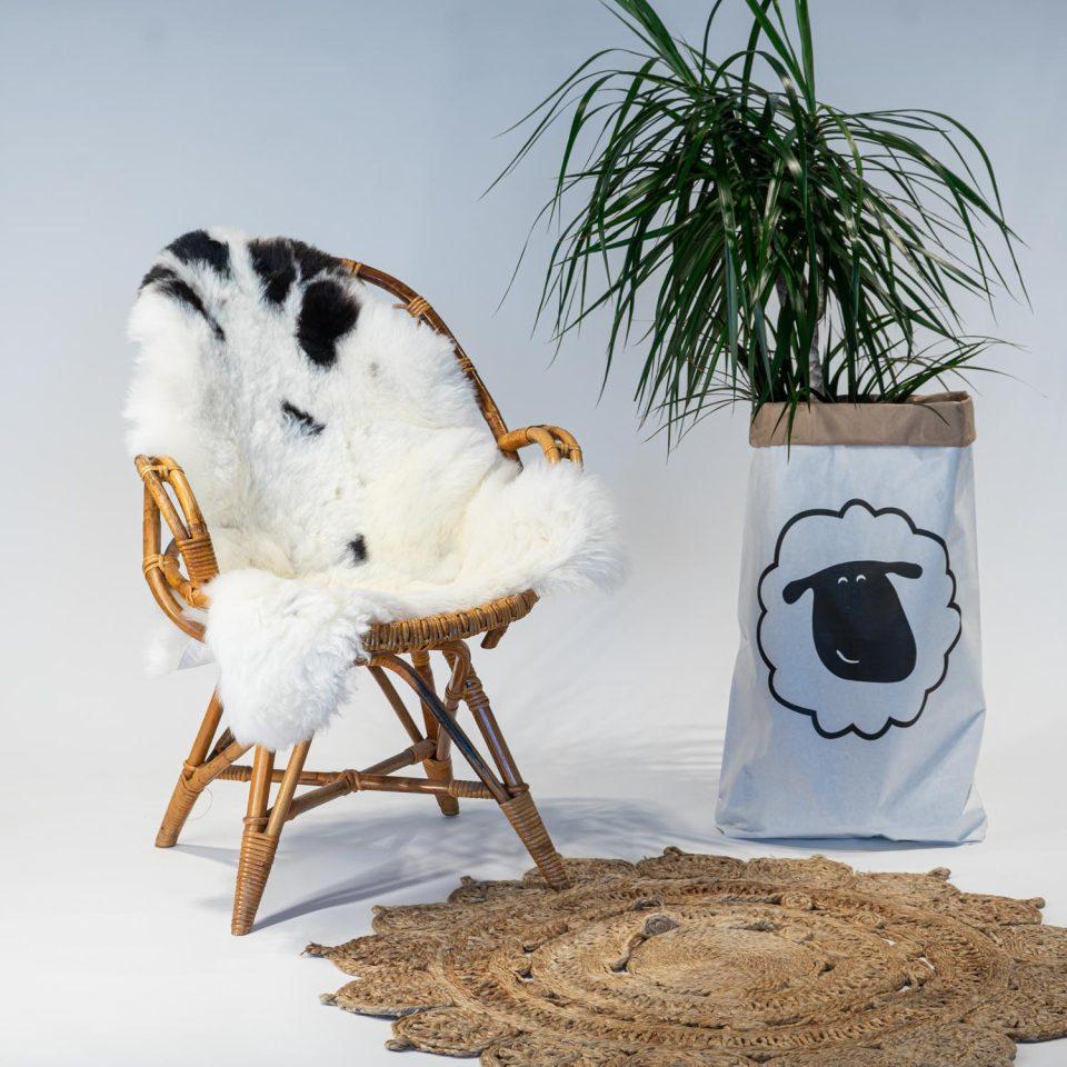 A05 Schapenvacht gemeleerd stoel Sheepycc