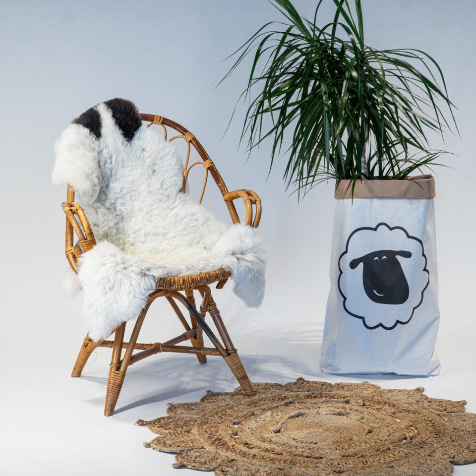 A07 Schapenvacht gemeleerd stoel Sheepycc