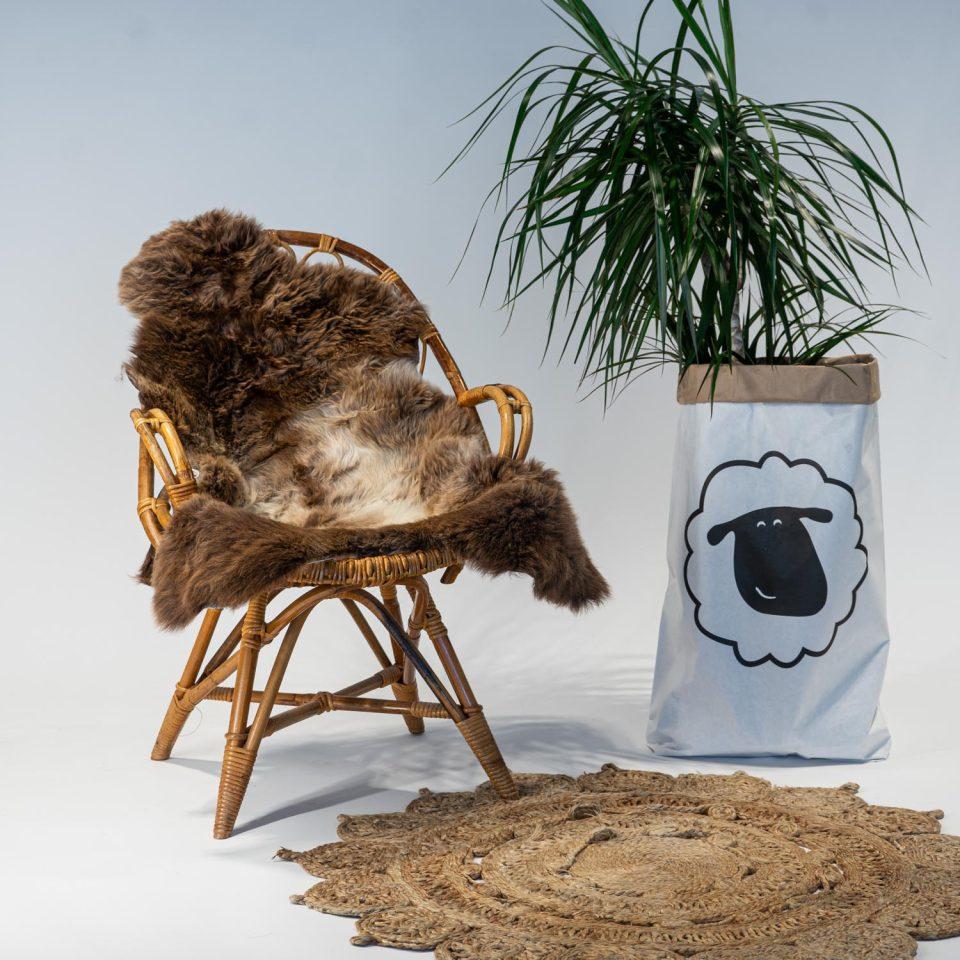 A16 Schapenvacht gemeleerd stoel Sheepycc