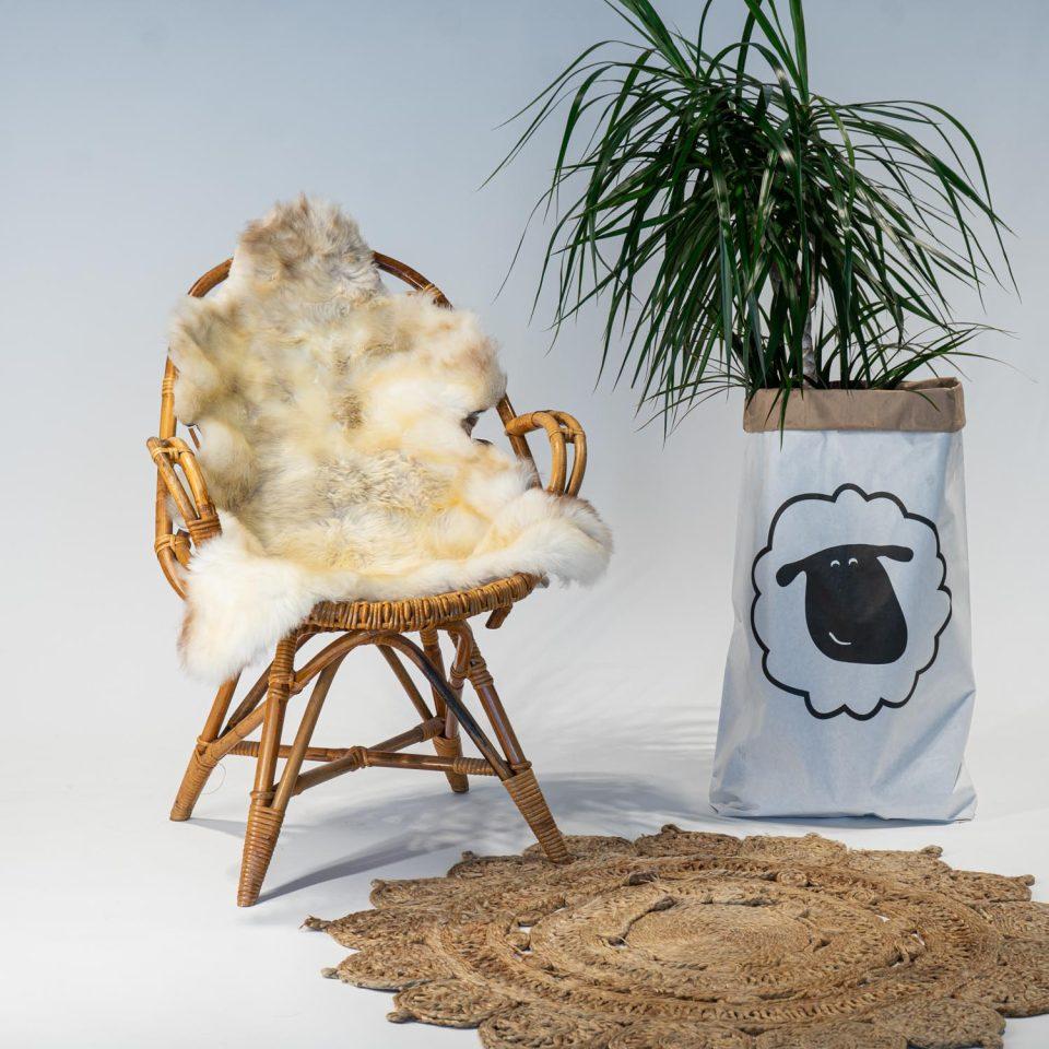 A18 Schapenvacht gemeleerd stoel Sheepycc