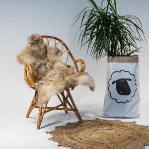 A25 Schapenvacht gemeleerd stoel Sheepycc